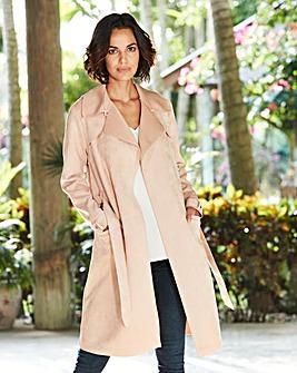 Longline Bonded Suedette Jacket