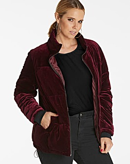 Velour Padded Coat