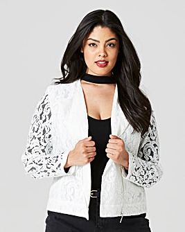 White Lace Biker Jacket