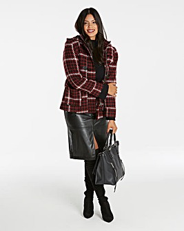 Check Short Duffle Coat