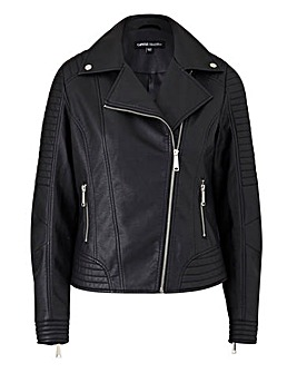 Petite PU Biker Jacket