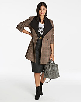 Waterfall Check Coat