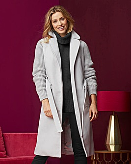 Knitted Sleeve Coat