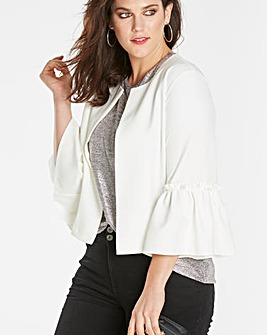 Fluted Sleeve Jacket