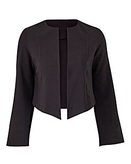 Cropped Fluted Sleeve Jacket