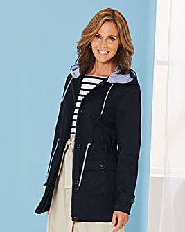 Hooded Contrast Jacket