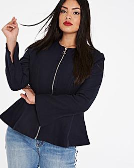 Wool Look Peplum Jacket