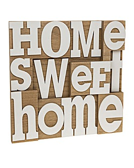 Home Sweet Home Wooden Wall Plaque