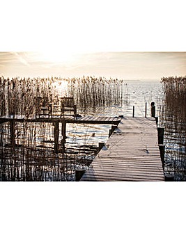 Arthouse Sunset Jetty Printed Canvas