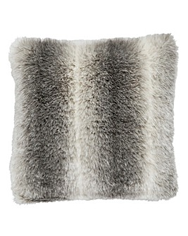 Grey Faux Fur Cushion