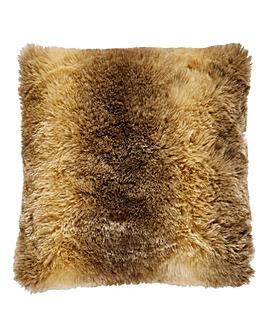 Brown Faux Fur Cushion