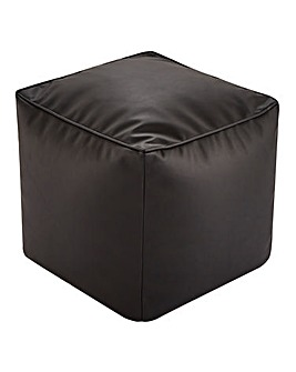 Faux Leather Bean Cube