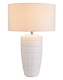 Delphine Ceramic Woven Effect Table Lamp