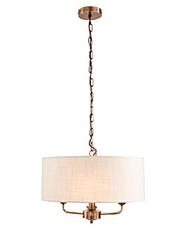 Imogen 3 Light Fitted Ceiling Chandelier