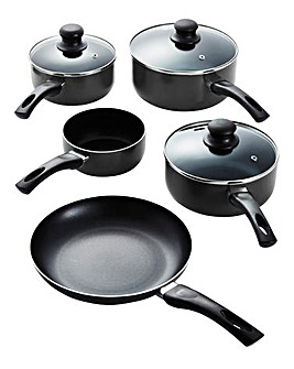 Aluminium Non-stick 5pc Panset - Black
