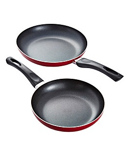 Aluminium Non-stick Frying Pan 2 Pack