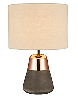 Larson Concrete & Copper Table Lamp