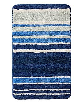 Oslo Stripes Bath Mat Blue
