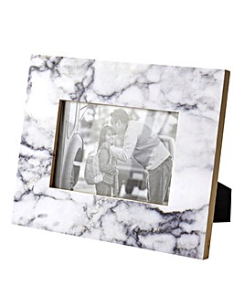 Marble Effect Photo Frame 4x6in