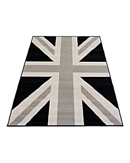 Union Flag Monochrome Rug