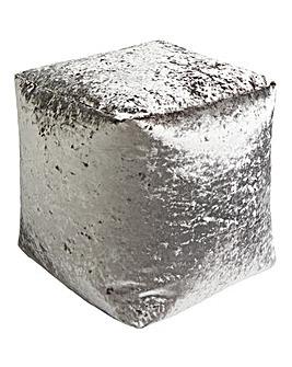 Crushed Velvet Silver Bean Cube