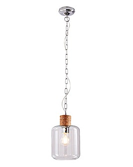Alana Glass & Rope Hanging Pendant