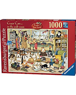 Crazy Cats-Craft Room Jigsaw 1000 pc