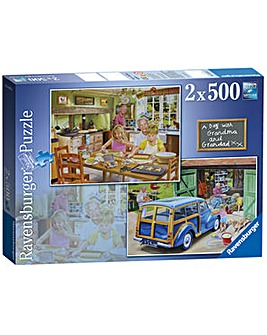 Grandpa and Grandma Jigsaw 2x500 pc