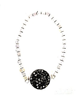 Mini Facet Bead Disc Bracelet