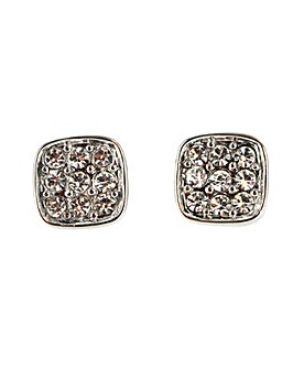 Diamante Encrusted Square Earring