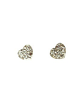 Diamante Encrusted Heart Earring