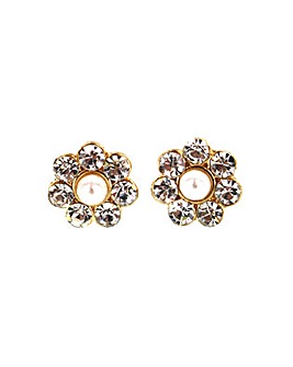 Pearl Detail Flower Earring