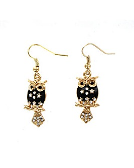 Lizzie Lee Owl Drop Earring
