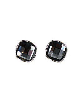 Lizzie Lee Square Glass Clip Earring