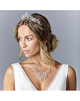 Jon Richard cut out statement tiara