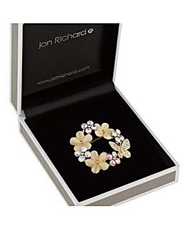 Jon Richard flower wreath brooch