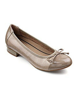 Hotter Trinity Dual Fit Ballerina Shoe