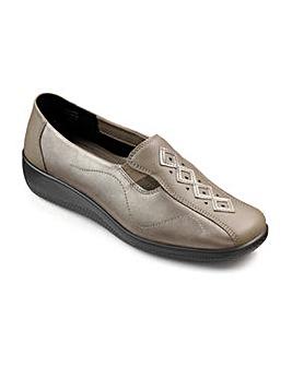 Hotter Calypso Leather Slip On Shoe
