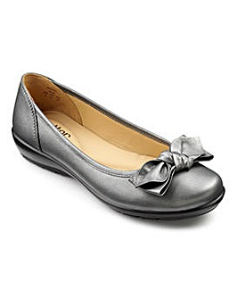 Hotter Jewel Leather Ballerina Shoe