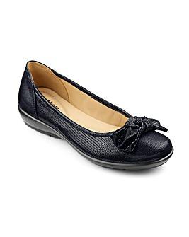 Hotter Jewel Leather Ballerina Shoe