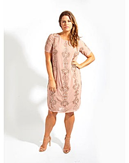 Lovedrobe Luxe Pink Sequin Shift Dress