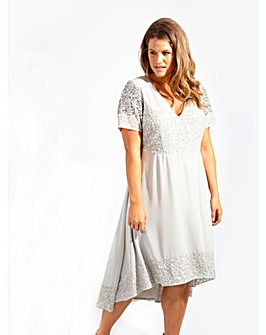Lovedrobe Luxe Embellished Swing Dress
