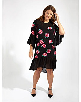 Lovedrobe GB Floral Print Swing Dress