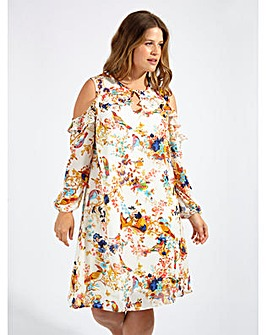 Lovedrobe GB Bird Print Shift Dress