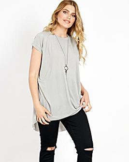 Blue Vanilla Curve Tunic T-Shirt