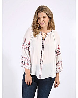 Koko Bohemian Embroidered Blouse