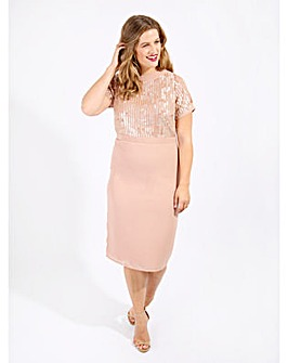 Lovedrobe Luxe Embellished Midi Dress