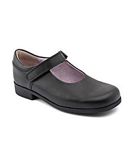Start-rite Samba Black Leather Fit F