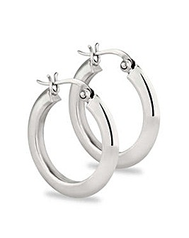 Simply Silver thick hoop earring