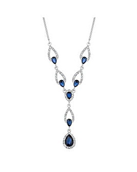 Alan Hannah blue peardrop y necklace